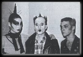 Jimi Imij (right) with Klaus Nomi (center) in the early 80s.